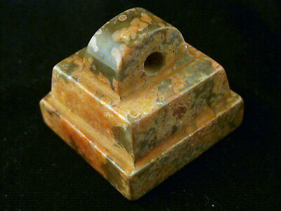 Great Chinese Jade Hand Carved Square Seal/Pendant L066