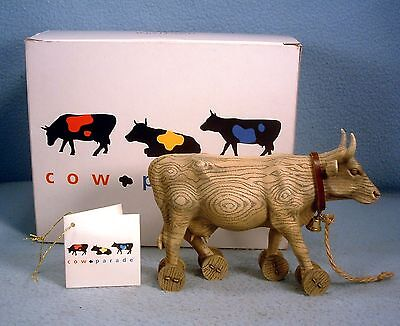 "Westland Cow Parade Figurine ""Pull Toy"" Cow in Original Box"