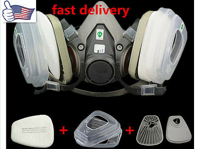 US 7 in 1 half Face Gas mask FOR 6200 Spray Painting Protection Respirator