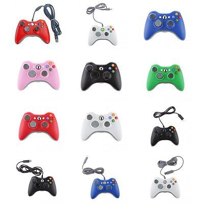 USB Wired / Wireless Dual Shock Gamepad Controller for Xbox 360 and PC Windows ^