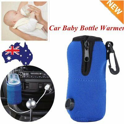 12V Food Milk Water Drink Bottle Cup Warmer Heater Car Auto Travel Baby L^