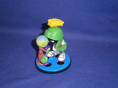 Vintage Looney Tunes Marvin The Martian PVC Figure by Applause 3in 1997 Mint