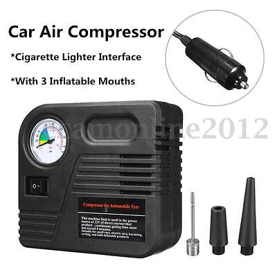 12V 150PSI Car Lighter Auto Electric Pump Air Compressor Tyre Tire Inflator