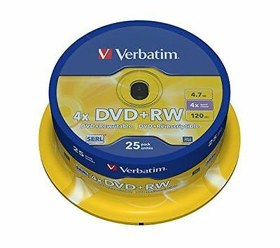Verbatim DVD+RW 4.7GB 4X Spindle of 25