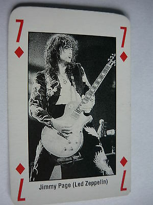 Jimmy Page (Led Zeppelin) - Kerrang Playing Card