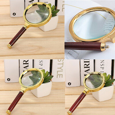 Hot 80mm Handheld Magnifier Magnifying Glass Loupe Reading Jewelry free Shipping
