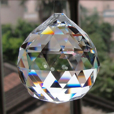 1PC Hanging CRYSTAL BALL Sphere Prism Pendant Faceted For Table Lamp Chandelier