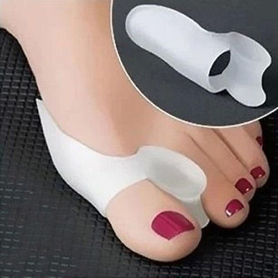 1Pair Silicone Gel Toe Spacer Separator Straightener Spreader Bunion Pain Relief