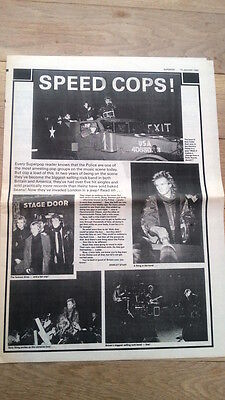 The POLICE/STING 'speed cops' 1979 UK ARTICLE / clipping