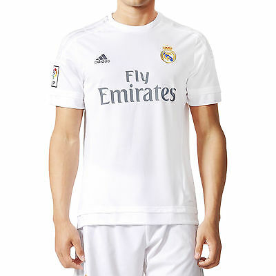 adidas Performance Mens 15/16 Real Madrid Football Home Jersey Shirt Top - White