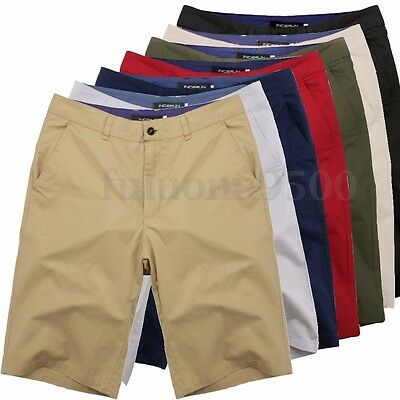 INCERUN Men Summer 100% Cotton Work Army Combat Shorts Trousers Army Cargo Pants