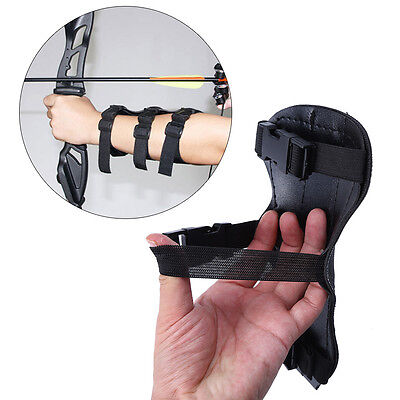 Archery Arm Guard Hunting Archery Bow Shoot  Protect 3 Strap Armlet Guard EB