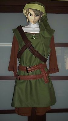 Breath of the Wild Link Costume Tunic of the Wild complete cosplay hat, belts ++