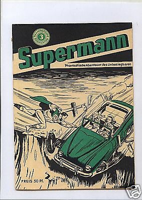 Supermann Nr. 3 Supermann Verlag 1950 Original  deutschsprachiges Superman Heft