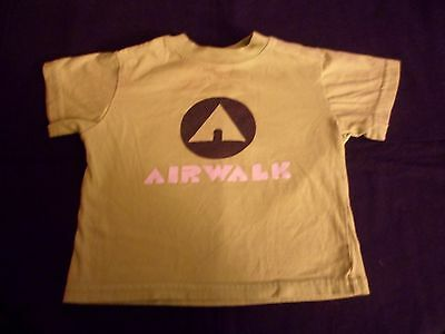Boy's Air Walk  Short Sleeve Shirt Green Logo 2T Gently Used Very Nice