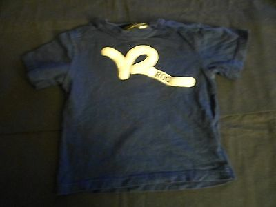 Boy's Rocawear Short Sleeve Shirt Blue 2T Gently Used Very Nice