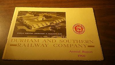 1960 Durham And Southern Railway Company Annual Report