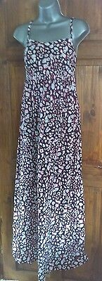 ladies  summer dress by papaya size 12 black white and red floral print