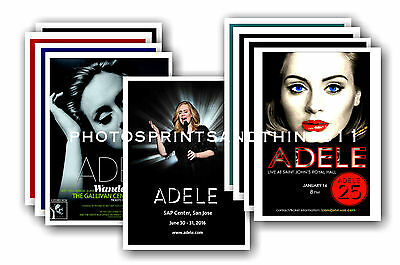 ADELE  - 10 promotional posters - collectable postcard set # 1