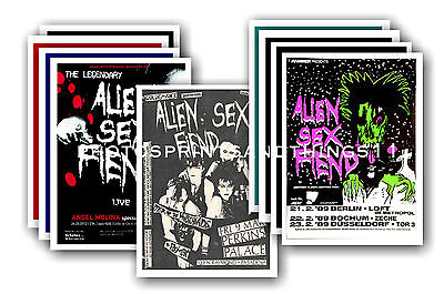 ALIEN SEX FIEND  - 10 promotional posters - collectable postcard set # 1
