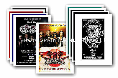 Aerosmith  - 10 promotional posters - collectable postcard set # 1