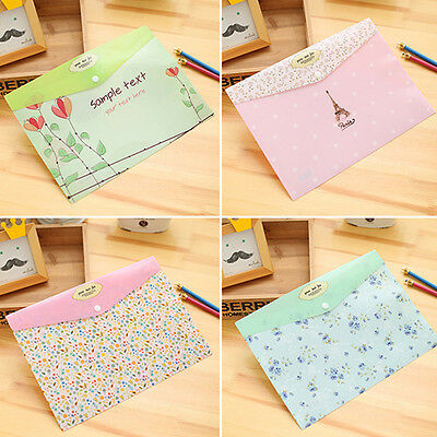 2pcs A4 PVC Bag Document Paper School Office Supplies File Folder Bag Stationery