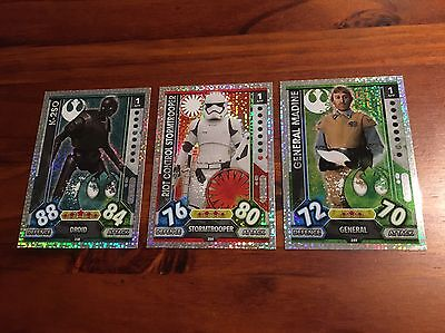 Star Wars - Force Attax 2017 (TOPPS collector cards) 3 x Hologram Foil Inserts