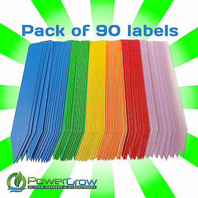 """Plant Labels - Multi Colored 4"""" Plant Marker Label Stakes - Pack of 90"""