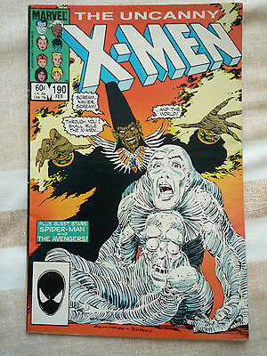 marvel comics THE UNCANNY X-MEN VOL 1 NO 190 FEB 1985