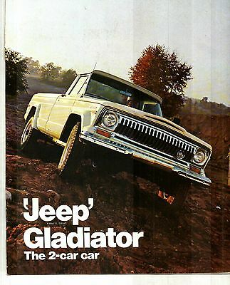 1970 Jeep Gladiator Truck  Deluxe Color Sales Catalog