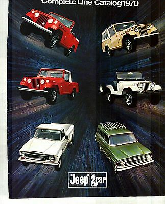 1970 Jeep Full-Line, Jeepster, Wagoneer, Universal, Truck Deluxe Color Catalog