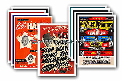 Bill Haley & The Comets  - 10 promotional posters - collectable postcard set # 1