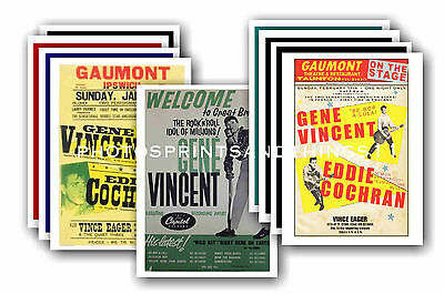 Gene Vincent  - 10 promotional posters - collectable postcard set # 1