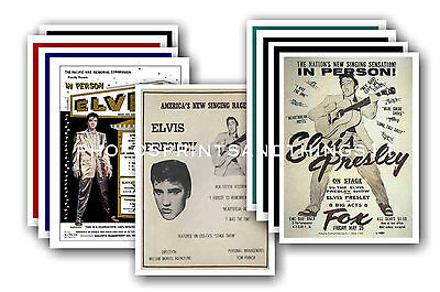 Elvis Presley  - 10 promotional posters - collectable postcard set # 1