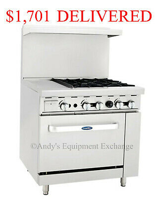 "36"" inch (3 foot) Gas Range 4 burners with 12"" Griddle on the left and 1 oven"