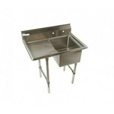 Klinger Economy 1 Compartment Stainless Steel commercial Sink with Drainboard