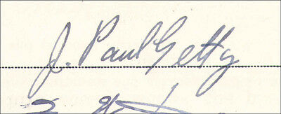 J. Paul Getty - Contract Signed 01/14/1937