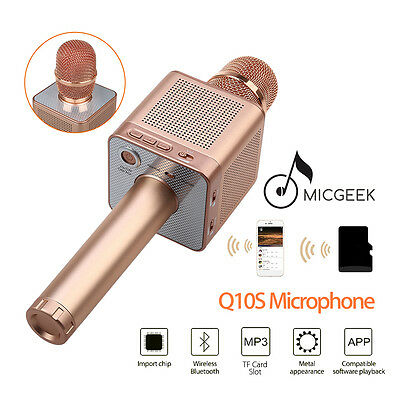MicGeek Q10S Wireless Microphone Bluetooth Karaoke Player Portable Fr Smartphone