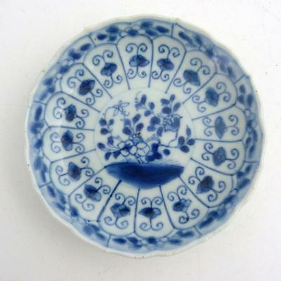 Chinese Blue And White Porcelain Saucer, Kangxi Period