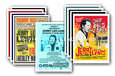 Jerry Lee Lewis  - 10 promotional posters - collectable postcard set # 1