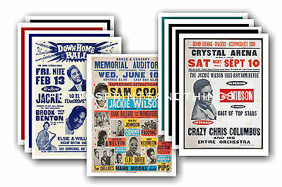 Jackie Wilson  - 10 promotional posters - collectable postcard set # 1