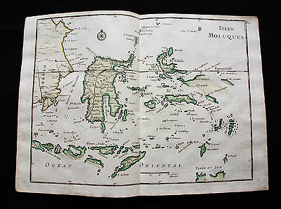1748 LE ROUGE - rare map: ASIA, EAST INDIES, MALUKU ISLANDS, MOLUCCAS, INDONESIA