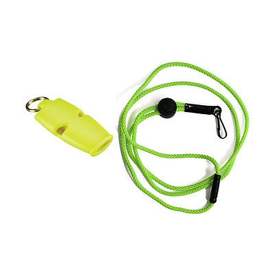 Fox 40 Micro Whistle Lanyard For Referee-Safety Alert-Rescue-Dog-Outdoor Neon