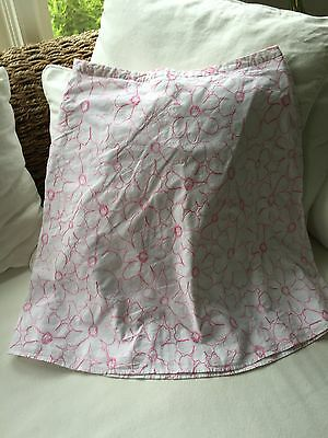 Cute 100% Cotton  Spring / summer Floral Pink/ White skirt size 12 w/lining