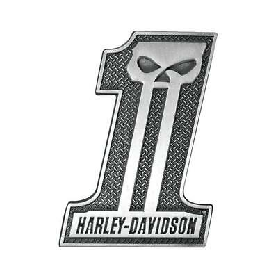 Genuine Harley Davidson Grey Willie G Skull Number #1 Magnet DM71806