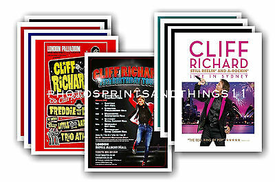 Cliff Richard  - 10 promotional posters - collectable postcard set # 1