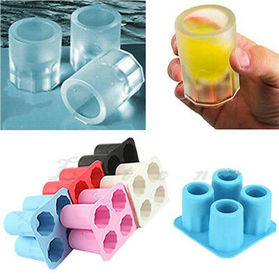 Hot Silicone/Plastic Bullet Shape Ice Freeze Cube Tray Mould for Bar Party Drink