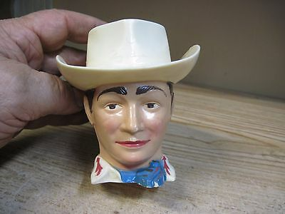 1950's Roy Rogers Head Child's Plastic Cup King Of The Cowboys Drinking Original