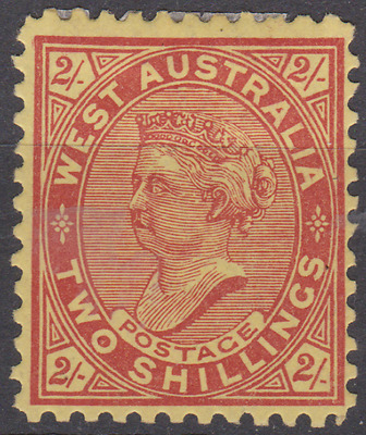 Western Australia 1902 Mint Mounted 2/- Bright Red & Yellow P11 SG134 Cat £300