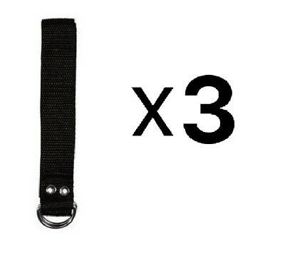 Martin Sports Nylon Football Belt 1 1/4 Inch x 60 Belt Black Fits Most (3-Pack)